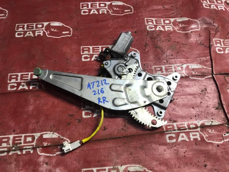 Стеклоподъемник Toyota Carina AT212-0093818 5A-J123488 2001 задний правый (б/у)