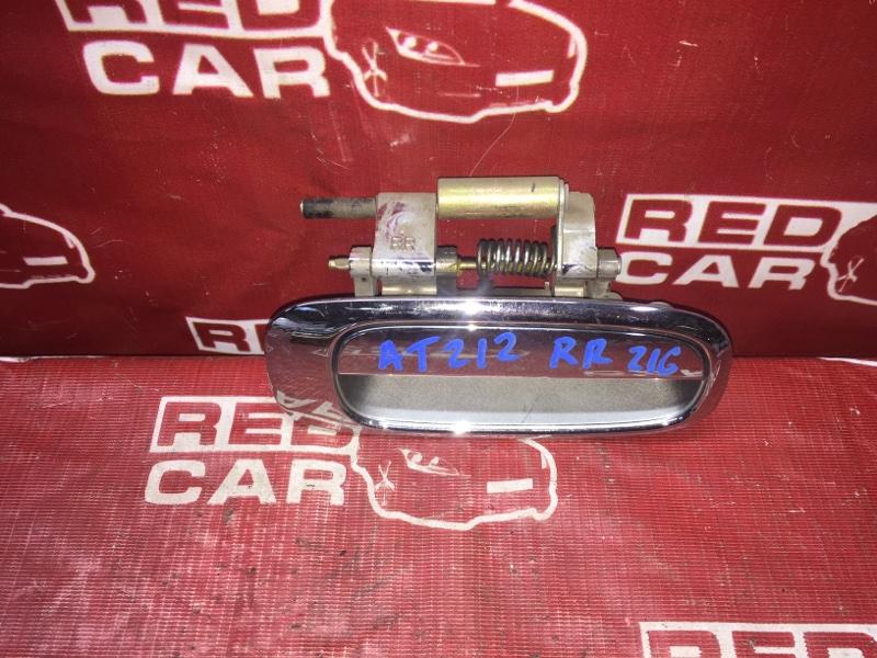 Ручка двери внешняя Toyota Carina AT212-0093818 5A 2001 задняя правая (б/у)