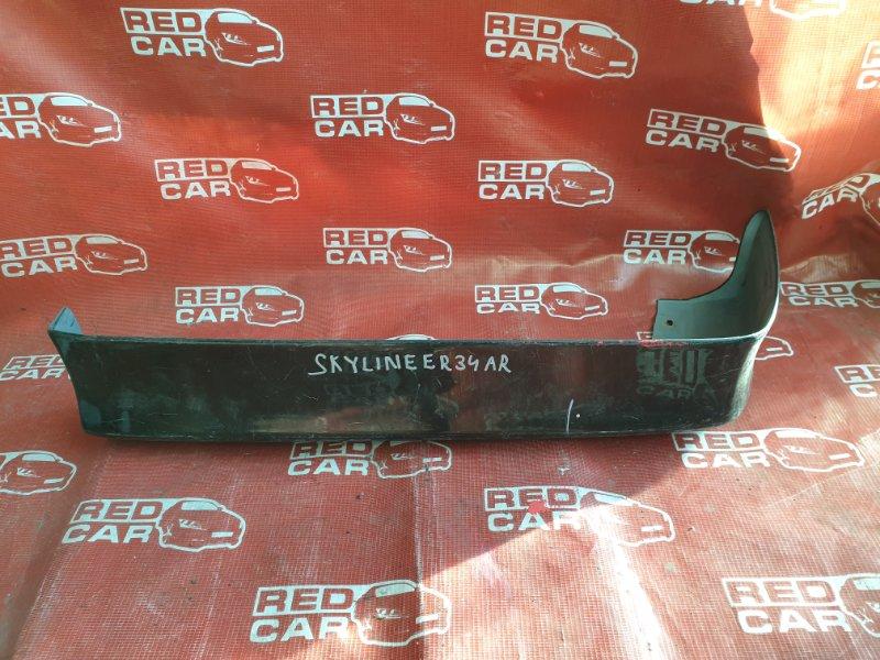 Накладка на бампер Nissan Skyline ER34 задняя левая (б/у)