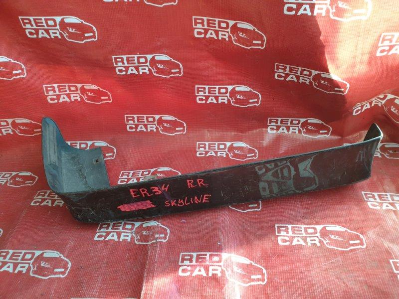Накладка на бампер Nissan Skyline ER34 задняя правая (б/у)