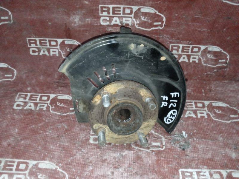 Ступица Nissan Note E12-099999 HR12DDR 2008 передняя правая (б/у)