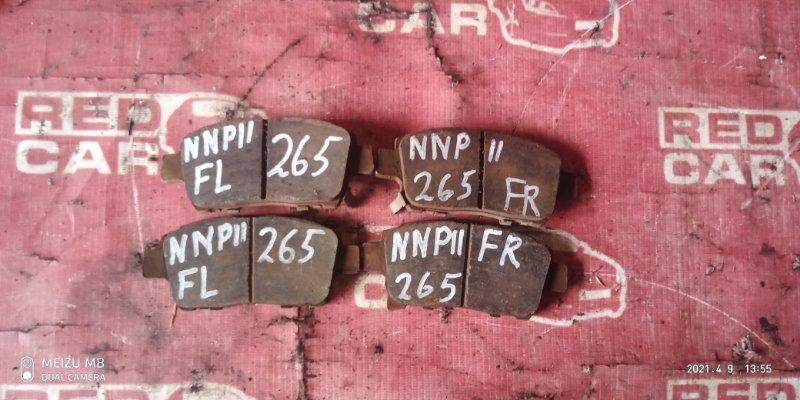 Тормозные колодки Toyota Porte NNP11-5016639 1NZ-C636436 2007 переднее (б/у)