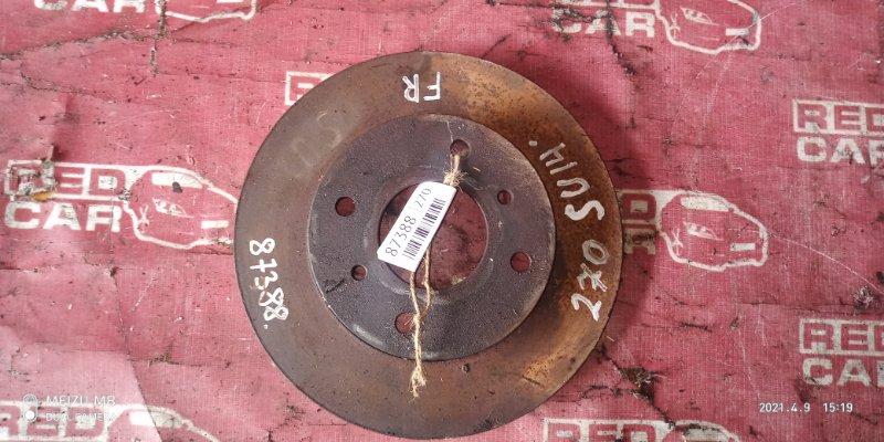 Тормозной диск Nissan Bluebird SU14-105853 CD20-752972X 1999 передний (б/у)