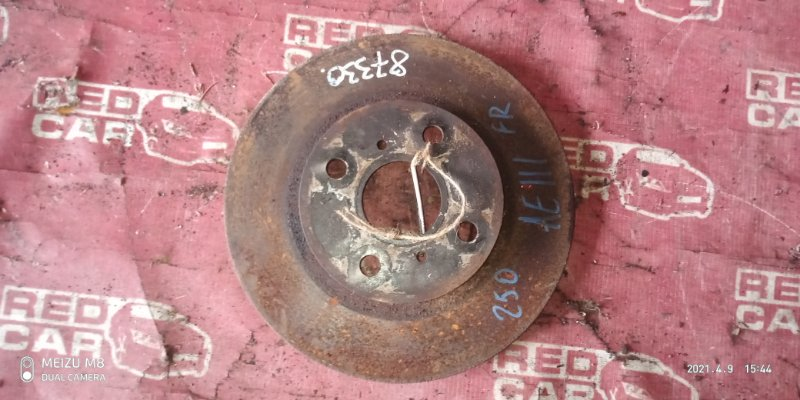 Тормозной диск Toyota Carib AE111-7071013 4A-H371642 1999 передний (б/у)