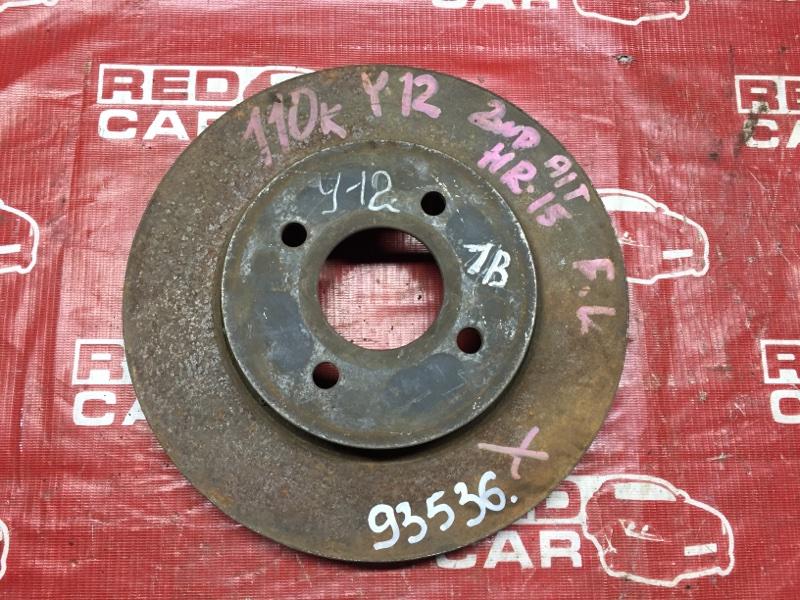 Тормозной диск Nissan Wingroad Y12 передний (б/у)
