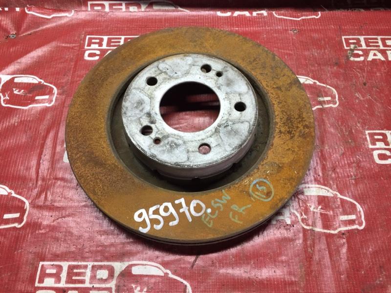 Тормозной диск Mitsubishi Galant EC5W передний (б/у)