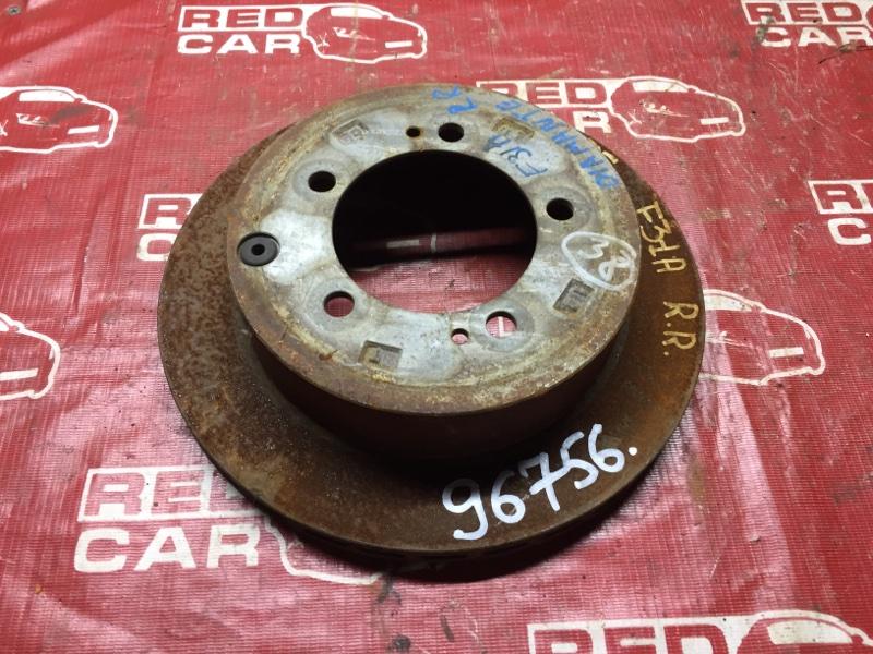 Тормозной диск Mitsubishi Diamante F31A задний (б/у)