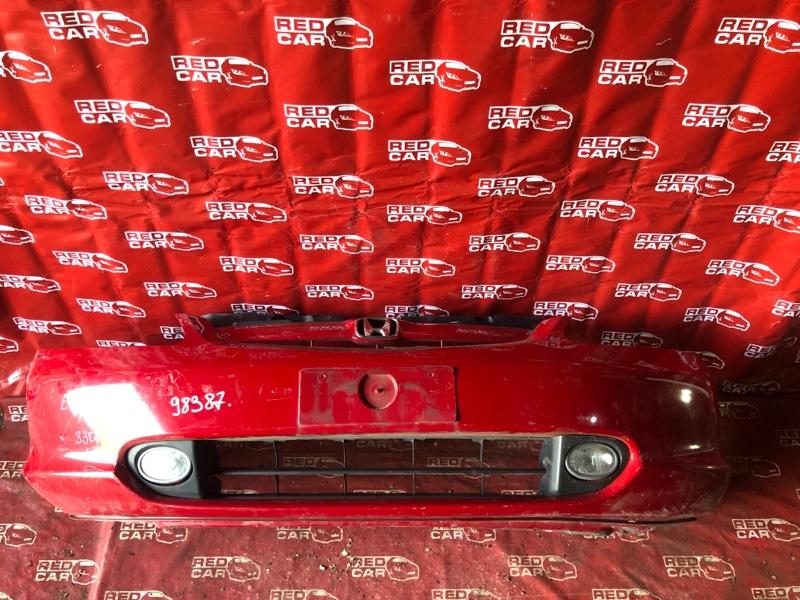 Бампер Honda Civic EU1-1203583 D15B-3716252 2002 передний (б/у)