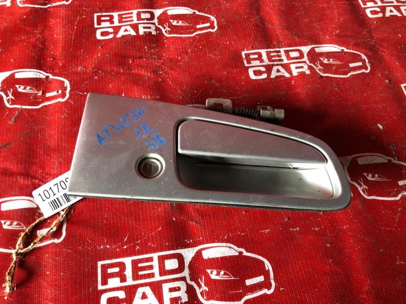 Ручка двери внешняя Nissan Elgrand ATWE50-008758 ZD30-032753A 2000 передняя правая (б/у)