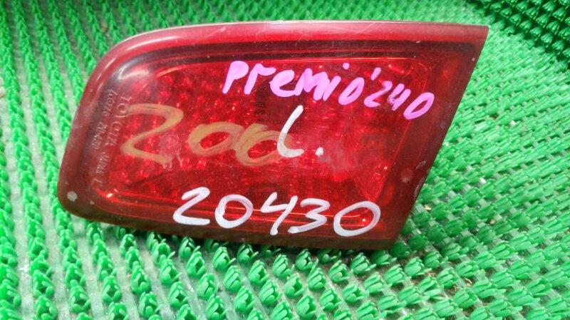 Фонарь стоп-сигнала Toyota Premio ZZT240 1ZZ-FE 2005 задний левый (б/у)