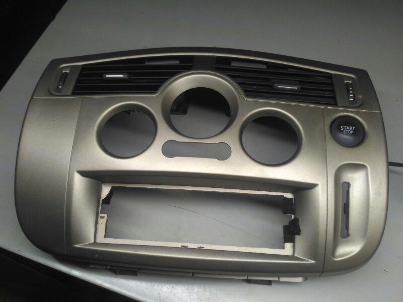 Лицевая панель центральной консоли Renault Scenic 2 JM К4М858 2007 (б/у)