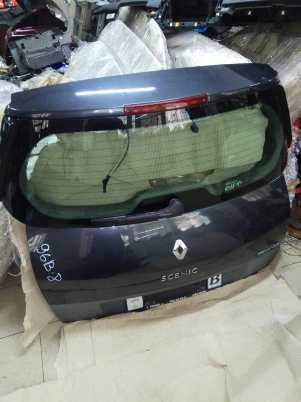 Крышка багажника Renault Scenic 2 УНИВЕРСАЛ K9K732 2006 задняя (б/у)