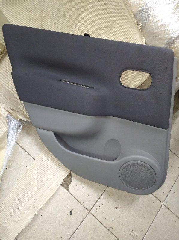 Обшивка двери Renault Scenic 2 УНИВЕРСАЛ K9K732 2006 задняя левая (б/у)