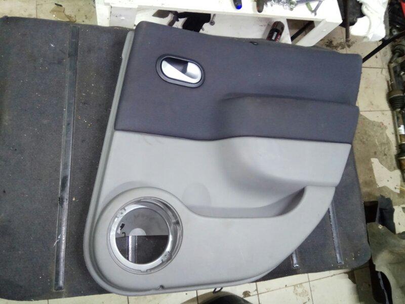 Обшивка двери Renault Scenic 2 УНИВЕРСАЛ K9K732 2006 задняя правая (б/у)