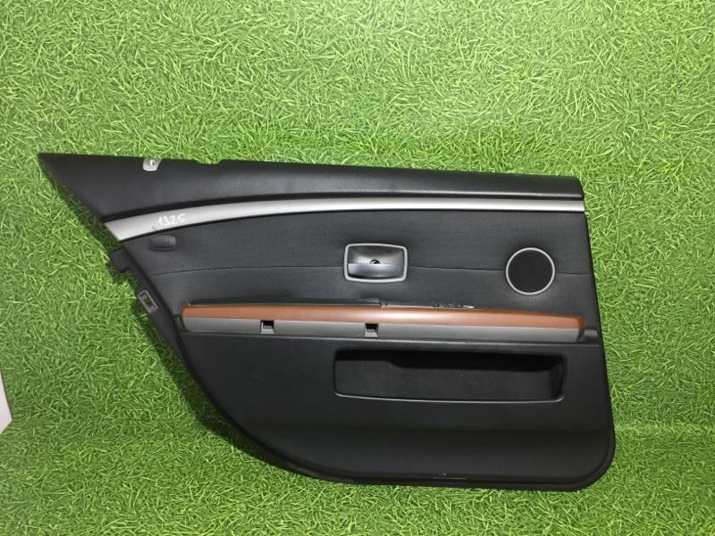 Обшивка двери Bmw 7 E65 N62B44 2004 задняя левая (б/у)