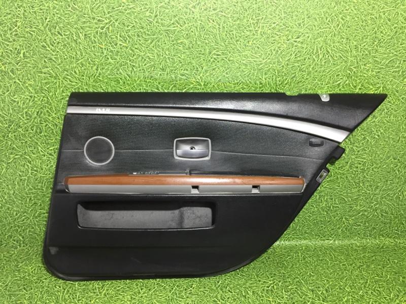 Обшивка двери Bmw 7 E65 N62B44 2004 задняя правая (б/у)
