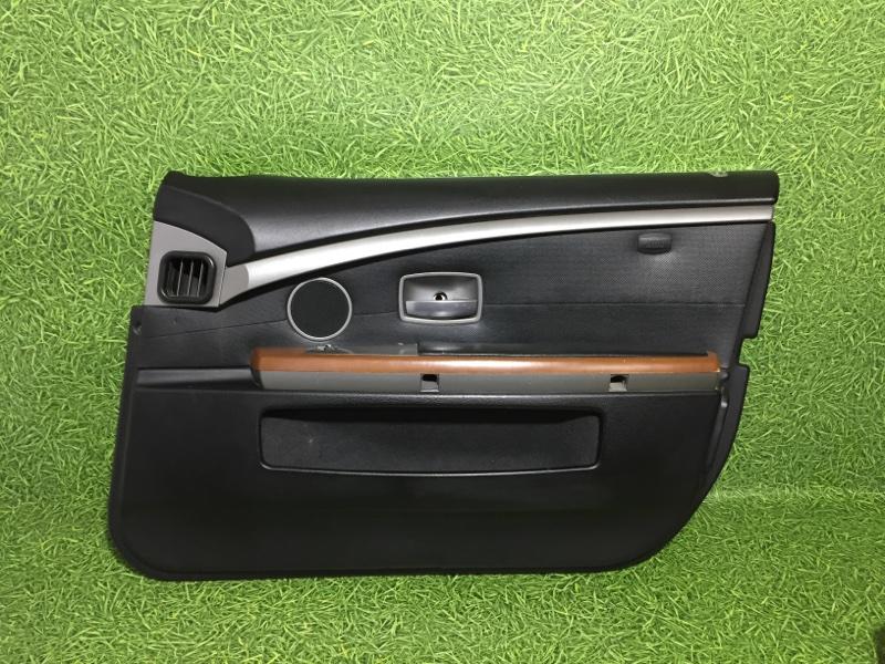 Обшивка двери Bmw 7 E65 N62B44 2004 передняя правая (б/у)
