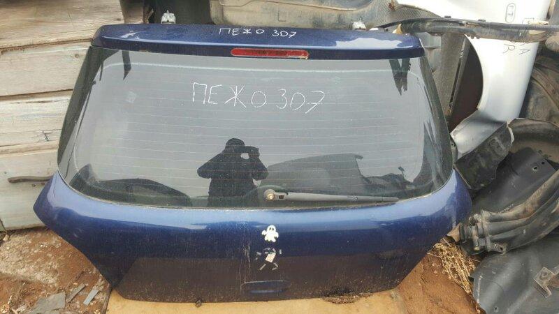 Дверь багажника Peugeot 307 3A TU5JP4 2001 задняя (б/у)