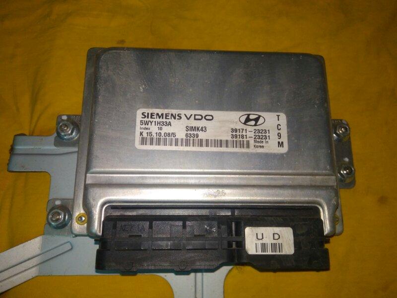 Блок управления двигателем Hyundai Tucson JM G4GC 2008 (б/у)