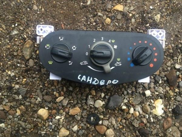 Блок управления отопителем Renault Sandero BS1Y K7M 2011 (б/у)