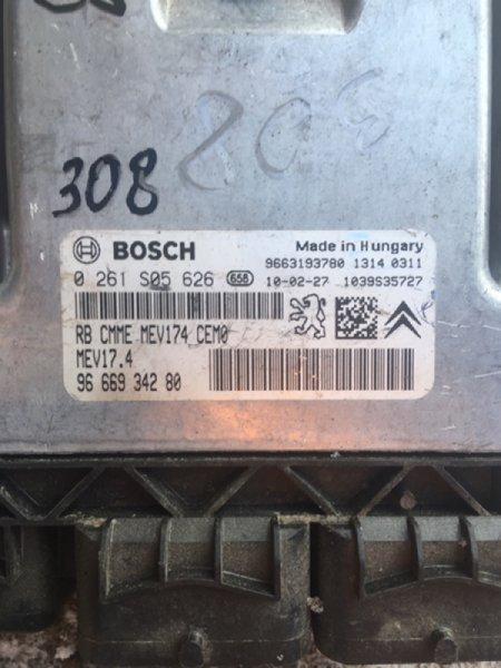Блок управления двигателем Peugeot 308 4A EP6 2010 (б/у)