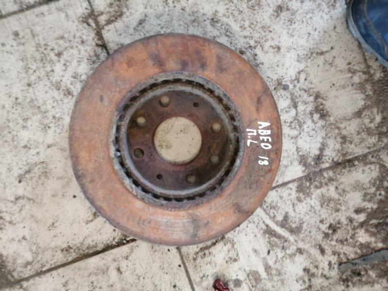Тормозной диск Chevrolet Aveo T250 B12D1 2009 передний (б/у)