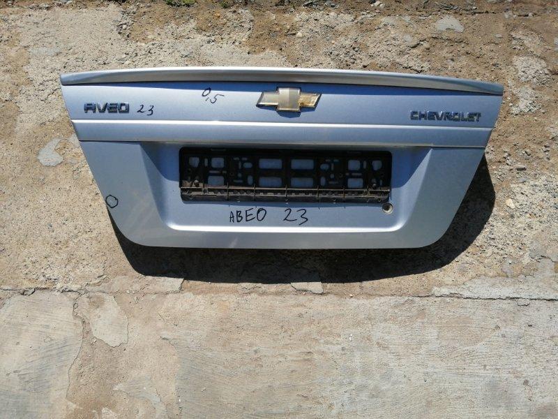 Крышка багажника Chevrolet Aveo T250 B12D1 2008 (б/у)