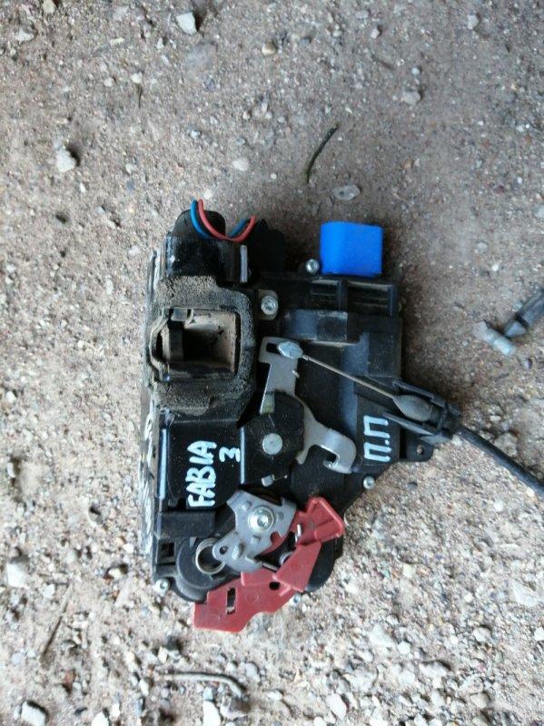 Замок двери Skoda Fabia 5J2 BBM 2008 передний правый (б/у)