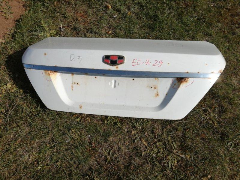 Крышка багажника Geely Emgrand Ec7 FE1 JL4G15 2012 (б/у)