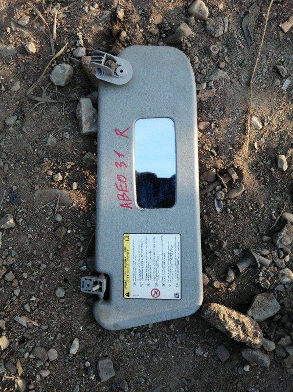 Козырек солнцезащитный Chevrolet Aveo T250 F14D4 2010 правый (б/у)