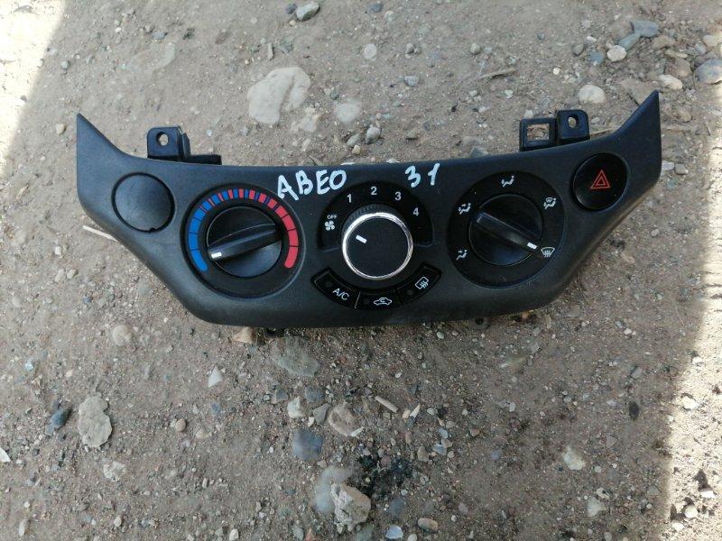 Блок управления отопителем Chevrolet Aveo T250 F14D4 2010 (б/у)