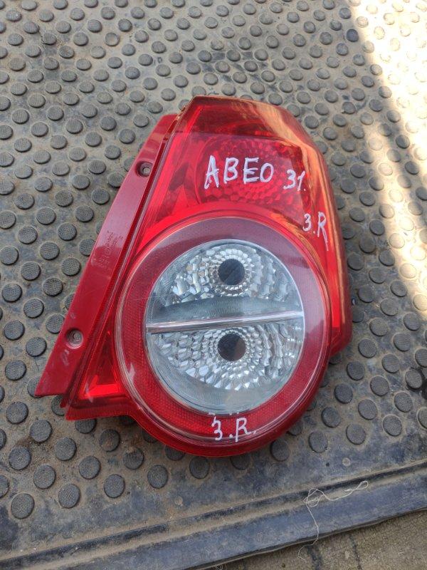 Фонарь Chevrolet Aveo T250 F14D4 2010 задний правый (б/у)