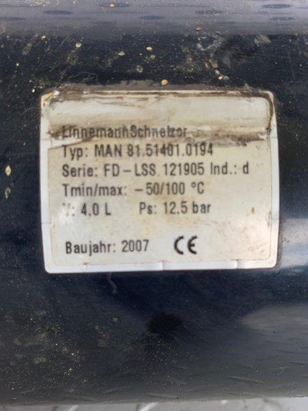Ресивер сжатого воздуха 4 литра Man Tga 2007 (б/у)