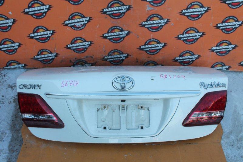 Крышка багажника Toyota Crown GRS202 задняя (б/у)