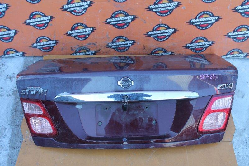 Крышка багажника Nissan Bluebird Sylphy QG10 задняя (б/у)