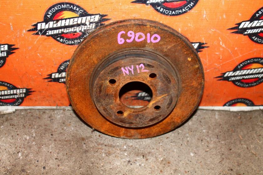 Диск тормозной Nissan Ad NY12 HR15 передний (б/у)