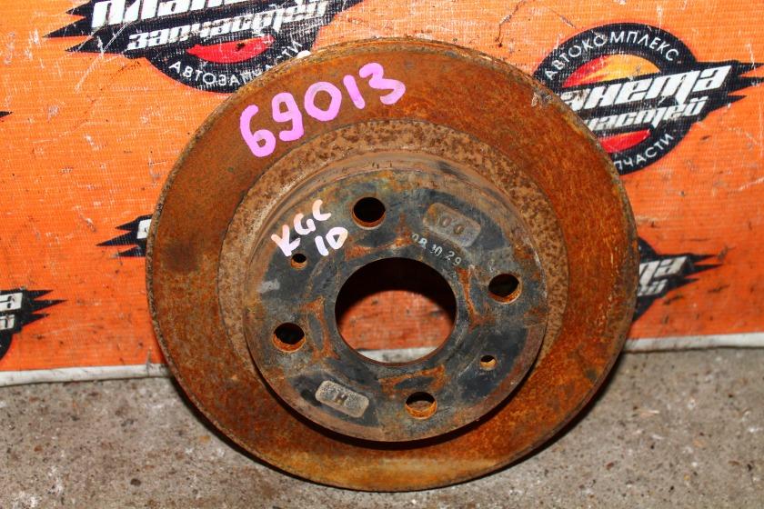 Диск тормозной Toyota Passo KGC10 1KR передний (б/у)