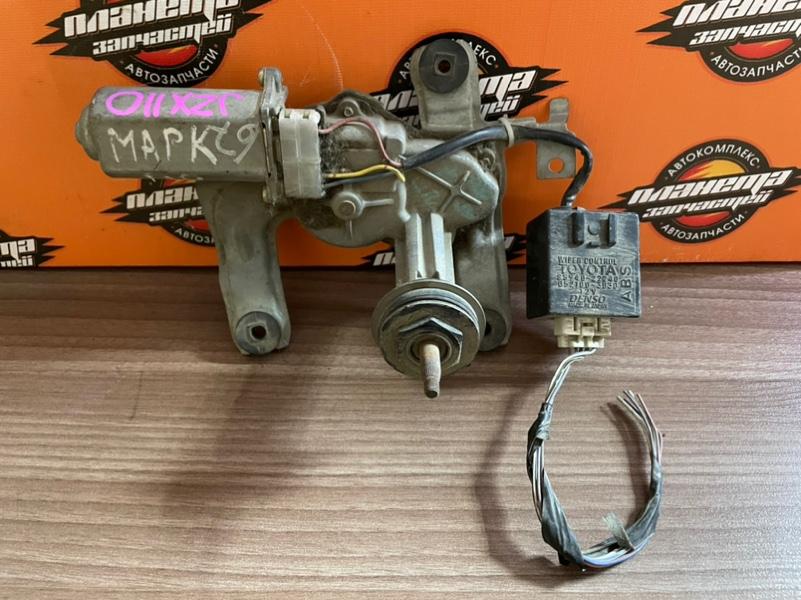 Мотор дворников Toyota Markii JZX110 задний (б/у)