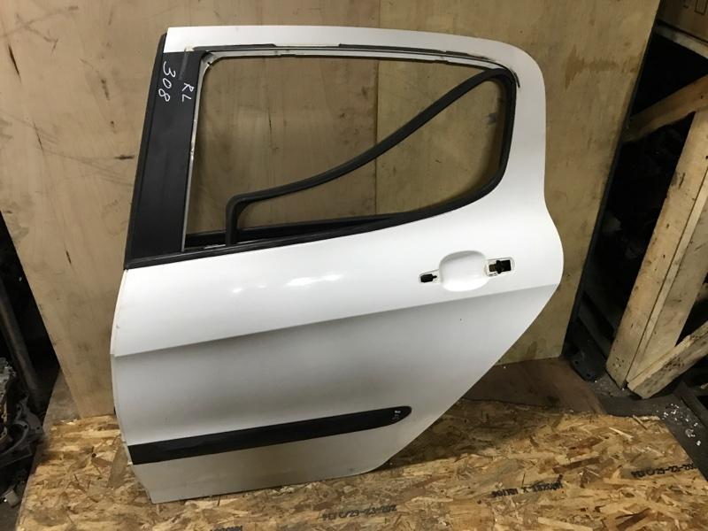 Дверь боковая Peugeot 308 4A 5FW(EP6) 2010 задняя левая (б/у)