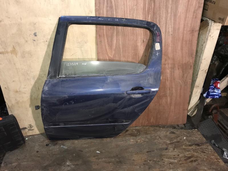 Дверь боковая Peugeot 307 3A EW10J4 2005 задняя левая (б/у)