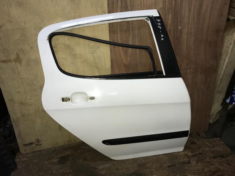 Дверь боковая Peugeot 308 4A 5FW(EP6) 2010 задняя правая (б/у)
