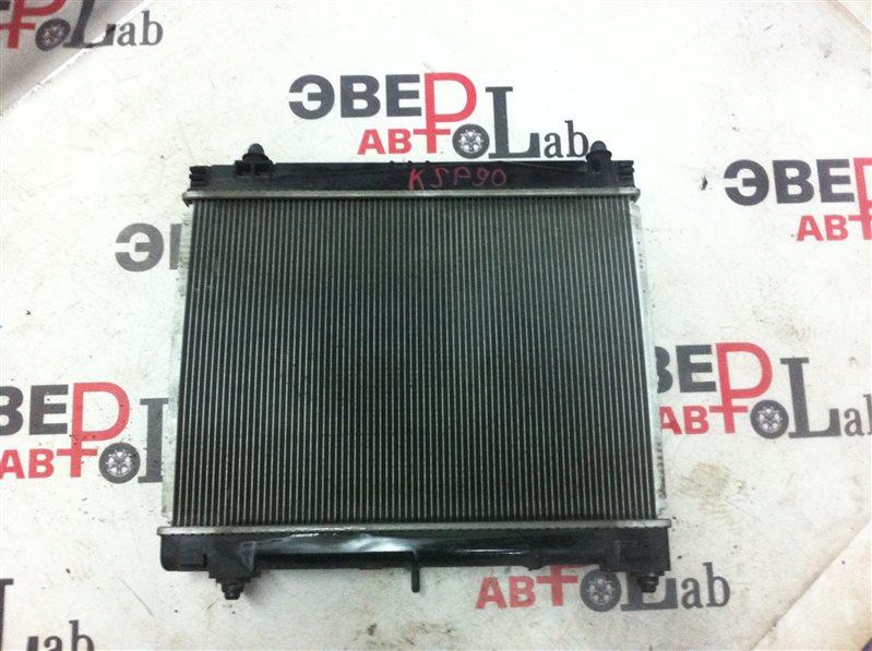 Радиатор охлаждения двс Toyota Vitz KSP90 1KR 2007
