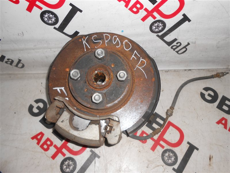Суппорт Toyota Vitz KSP90 1KR 2007 передний правый