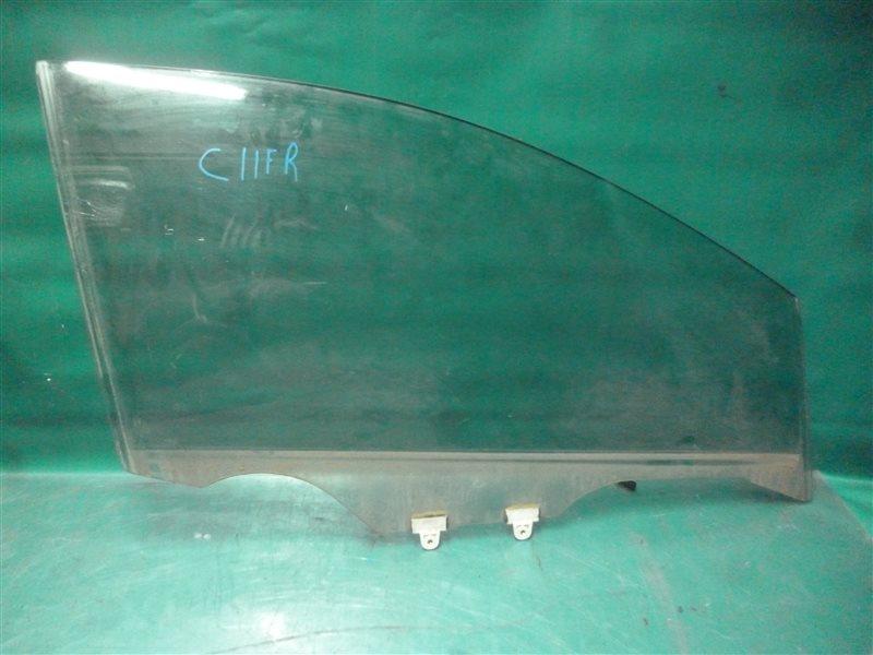 Стекло двери Nissan Tiida C11 HR15 2006 переднее правое