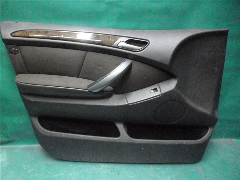 Обшивка двери Bmw X5 E53 M54B30 2004 передняя левая