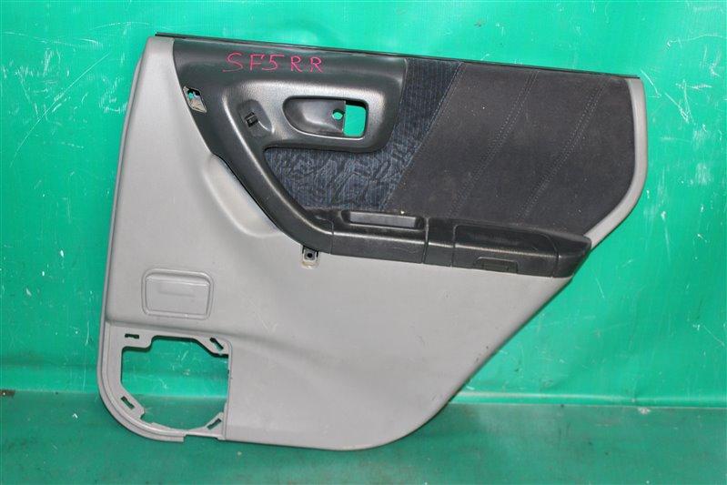 Обшивка двери Subaru Forester SF5 EJ201 2001 задняя правая