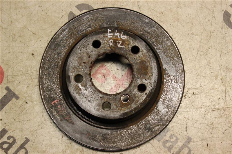 Тормозной диск Bmw 3-Series 320I E46 M54B22 2004 задний правый
