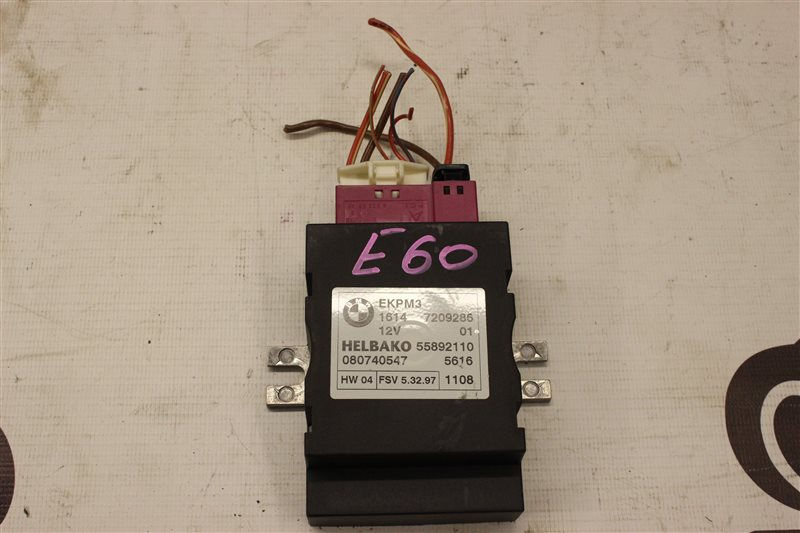Блок управления топливным насосом Bmw 5 Series 530I E60N N52B30A 03/2008