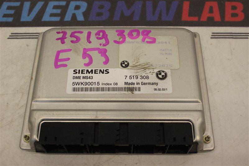 Блок управления efi Bmw X5 E53 SAV 306S3 М54B30 03/2003