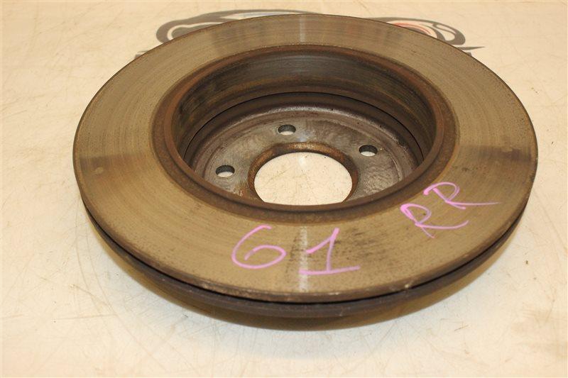 Тормозной диск Bmw 5 Series 525I E61 N52B25A 12/2005 задний